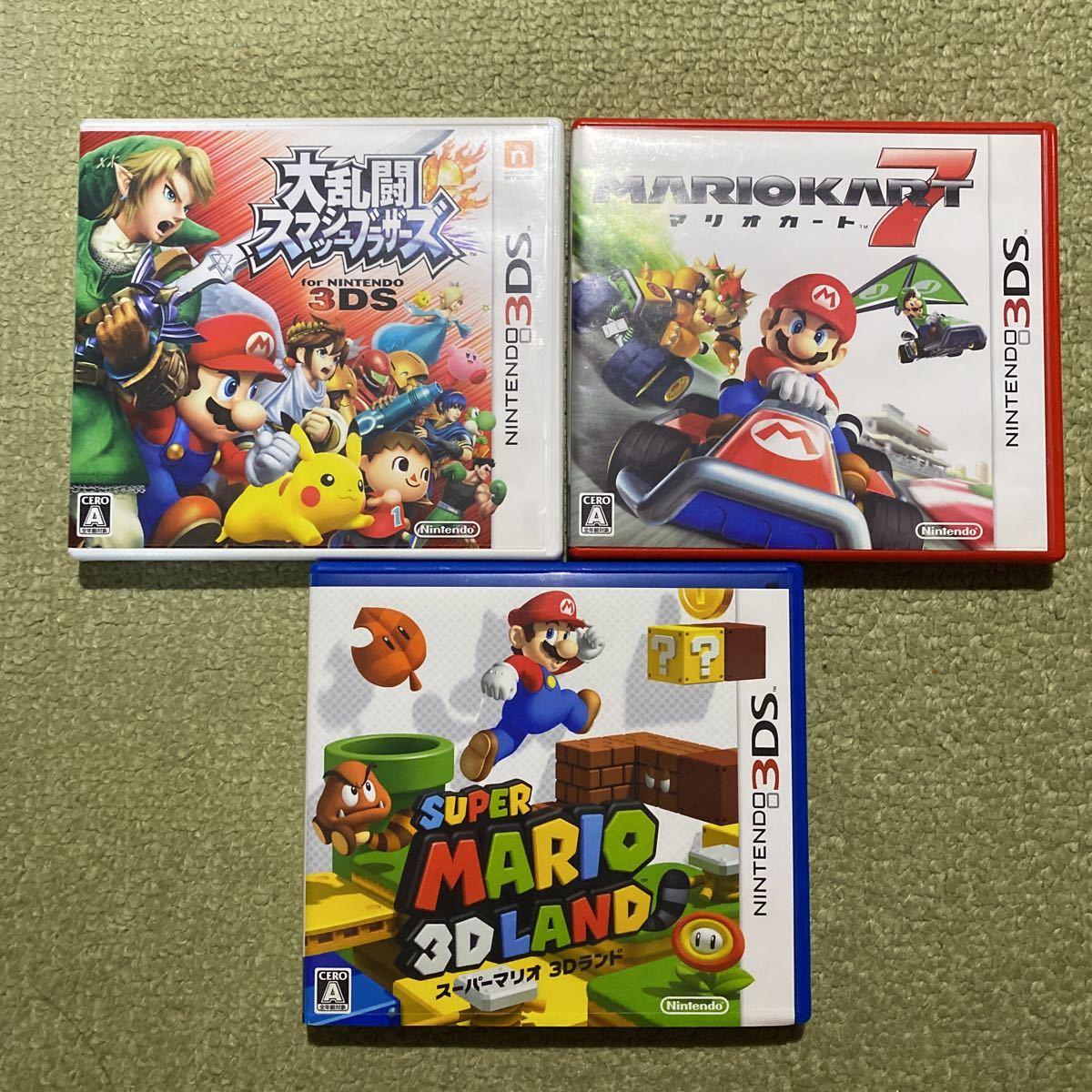 3DS 大乱闘スマッシュブラザーズ スーパーマリオ3Dランド マリオカート7