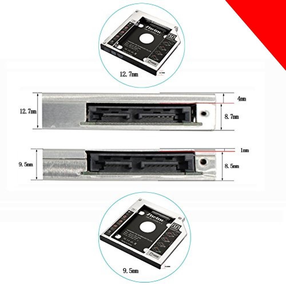 ★CHN-DC-2530PE-9.5 Zheino 2nd 9.5mmノートPCドライブマウンタ セカンド 光学ドライブベイ用 _画像6
