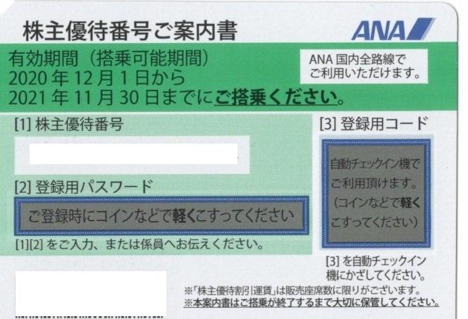 全日空 ANA 株主優待券 1枚  有効期間を2022年5月31日まで延長_画像1