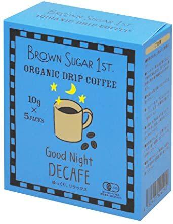オーガニック カフェインレスコーヒー グッドナイトブレンド ドリップ (有機 化学調味料無添加 砂糖不使用 100%天然 ブラウ_画像1