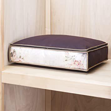 ブラウン アストロ 羽毛布団 収納袋 シングル用 ブラウン 不織布 活性炭消臭 コンパクト 617-45_画像5