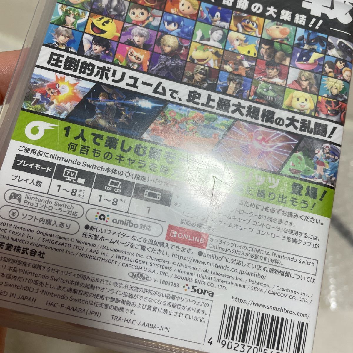 Nintendo Switch ニンテンドースイッチ 大乱闘スマッシュブラザーズSPECIAL スマブラ ケースのみ