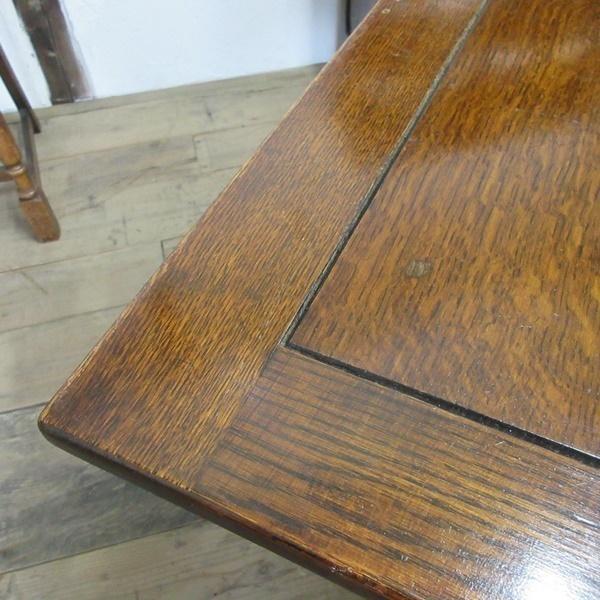 イギリス アンティーク 家具 ダイニングテーブル ドローリーフテーブル 拡張天板 木製 オーク 英国 TABLE 6144c_画像8