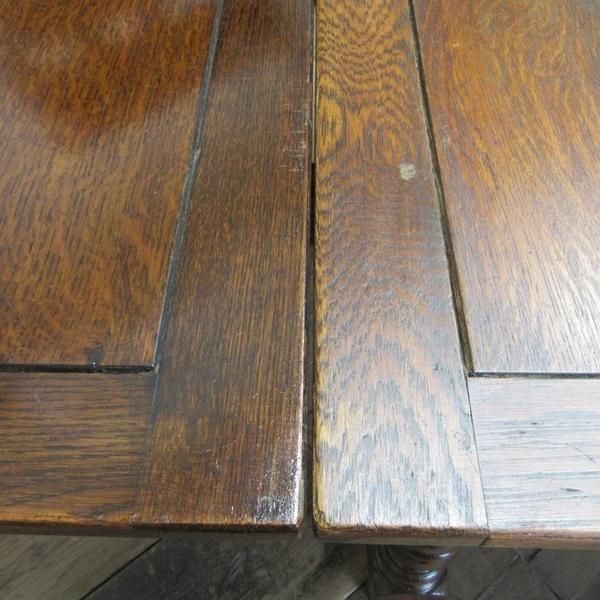 イギリス アンティーク 家具 ダイニングテーブル ドローリーフテーブル 拡張天板 木製 オーク 英国 TABLE 6144c_画像9