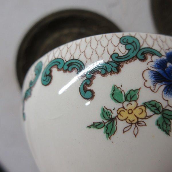 イギリス ヴィンテージ雑貨 Cauldon ミニボウル シュガーボウル 砂糖入れ キッチン雑貨 英国製 tableware 1874sa_画像9