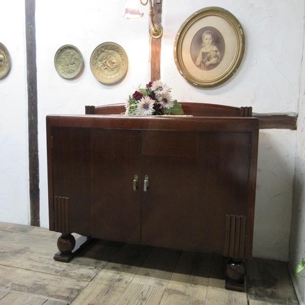イギリス アンティーク 家具 サイドボード キャビネット 食器棚 飾り棚 収納 木製 オーク 英国 SIDEBOARD 6199c 新入荷_画像1