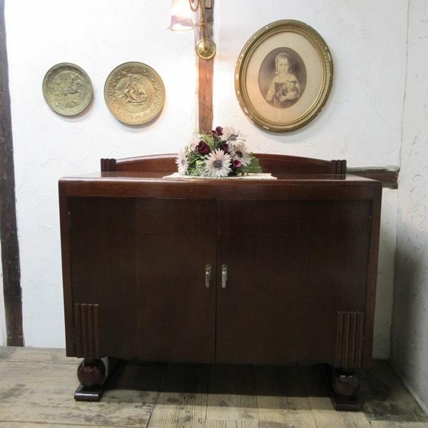 イギリス アンティーク 家具 サイドボード キャビネット 食器棚 飾り棚 収納 木製 オーク 英国 SIDEBOARD 6199c 新入荷_画像2