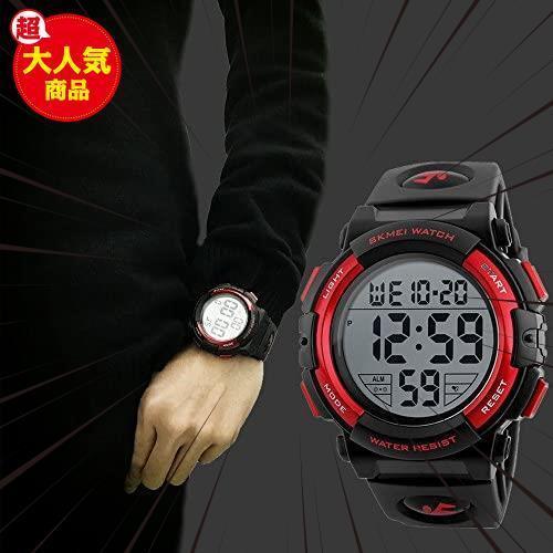 新品Timever(タイムエバー)デジタル腕時計 メンズ 防水腕時計 led watch スポーツウォッチ アラームL3C0_画像4