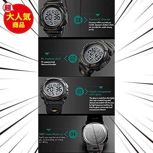新品Timever(タイムエバー)デジタル腕時計 メンズ 防水腕時計 led watch スポーツウォッチ アラームL3C0_画像6