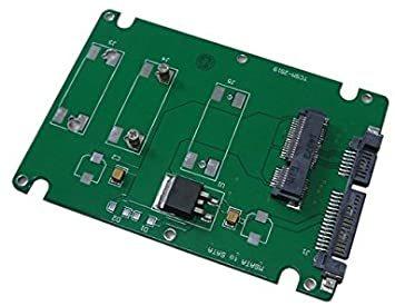 mSATA MINI PCI-E SSD→2.5インチ SATA3 変換アダプタ 7mm プラスチック ケース付き_画像3