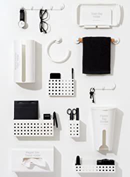 ホワイト ライクイット(like-it)キッチン収納マグネット 5連フック幅28.5x奥3.1x高4.5cmニューホワイト日本製_画像6
