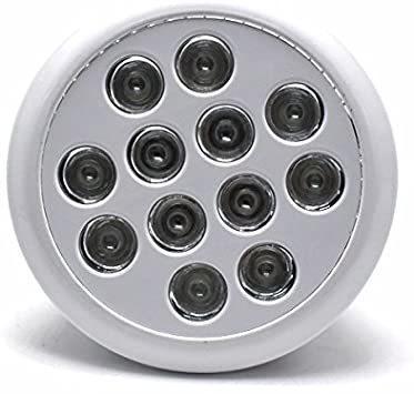 アクアリウムライト LEDライト 24W E26口金 青8 赤2 白2灯 水槽照明 熱帯魚 海水魚 水草 植物育成 海水 スポッ_画像1