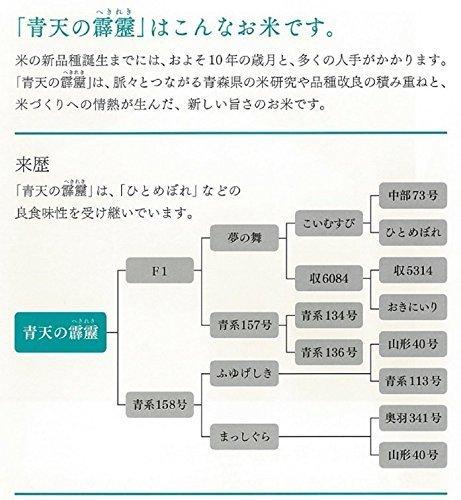 □セール□2kg 【精米】青森県産 白米 青天の霹靂 2kg 平成30年産_画像3