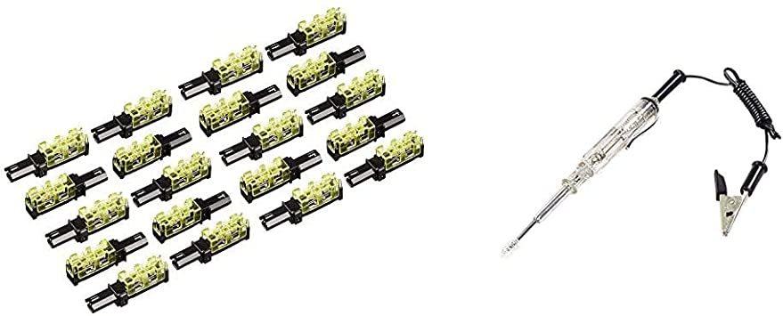 お買い得限定品+検電テスター エーモン 接続コネクター 10セット(20個入) (2825) & 検電テスター(LED光_画像1