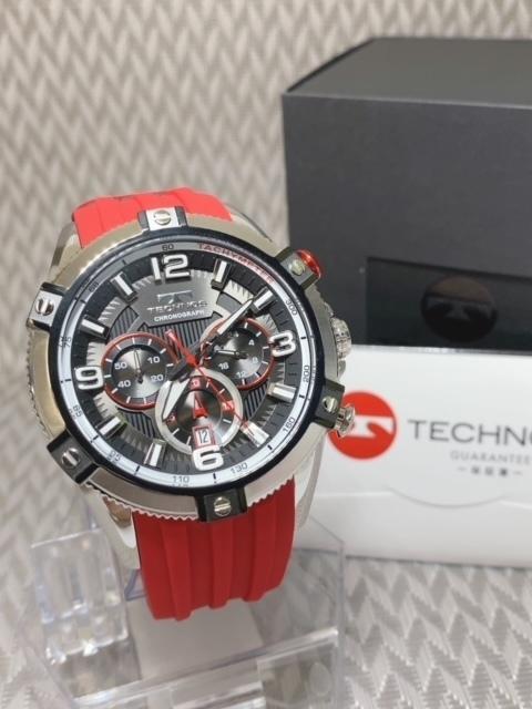 NEWモデル 新品 テクノス TECHNOS 正規品 腕時計 クロノグラフ スポーツ ラバーベルト 国内正規保証【セーム革付き送料無料】_画像5