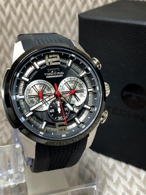 NEWモデル 新品 テクノス TECHNOS 正規品 腕時計 クロノグラフ ラバーベルト国内正規保証 3Dフェイス【セーム革付き送料無料】_画像4