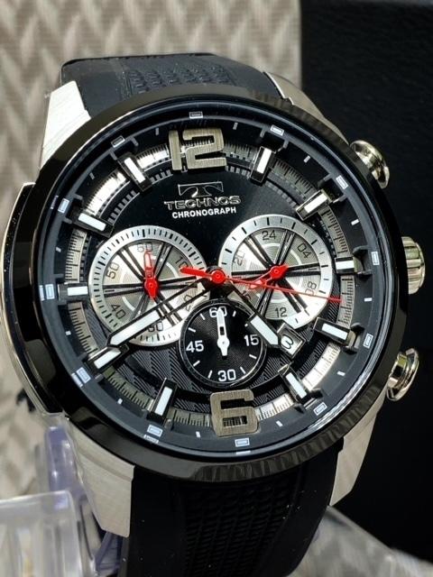 NEWモデル 新品 テクノス TECHNOS 正規品 腕時計 クロノグラフ ラバーベルト国内正規保証 3Dフェイス【セーム革付き送料無料】_画像1