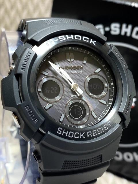 新品 CASIO カシオ 正規品 G-SHOCK Gショック ジーショック 電波ソーラー腕時計 アナデジ 防水 ブラック 20気圧防水 多機能腕時計 メンズ_画像4