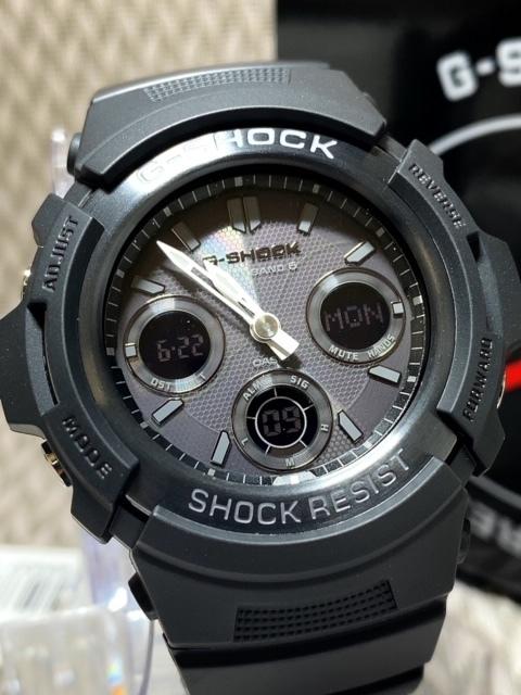 新品 CASIO カシオ 正規品 G-SHOCK Gショック ジーショック 電波ソーラー腕時計 アナデジ 防水 ブラック 20気圧防水 多機能腕時計 メンズ_画像3