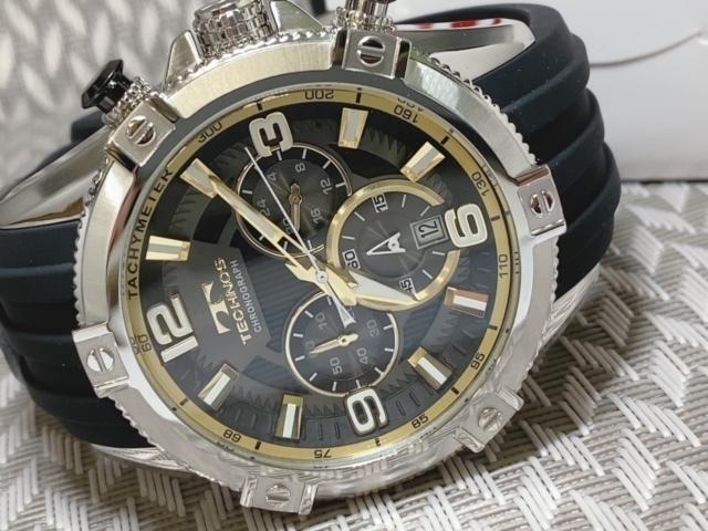 NEWモデル新品テクノスTECHNOS腕時計クロノグラフラバーベルトイエロー 国内正規保証【高級セームプレゼント送料無料】_画像7