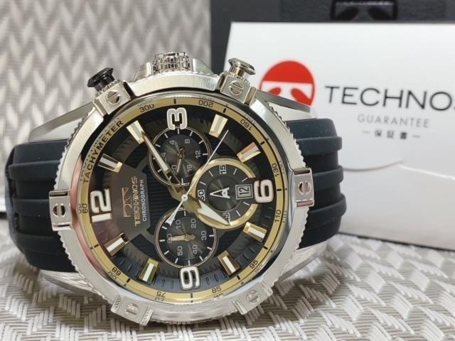 NEWモデル新品テクノスTECHNOS腕時計クロノグラフラバーベルトイエロー 国内正規保証【高級セームプレゼント送料無料】_画像8