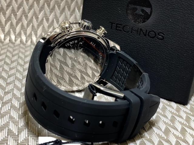 NEWモデル 新品 テクノス TECHNOS 正規品 腕時計 クロノグラフ ラバーベルト国内正規保証 3Dフェイス【セーム革付き送料無料】_画像7