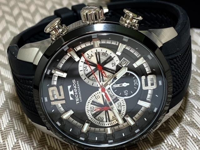 NEWモデル 新品 テクノス TECHNOS 正規品 腕時計 クロノグラフ ラバーベルト国内正規保証 3Dフェイス【セーム革付き送料無料】_画像6
