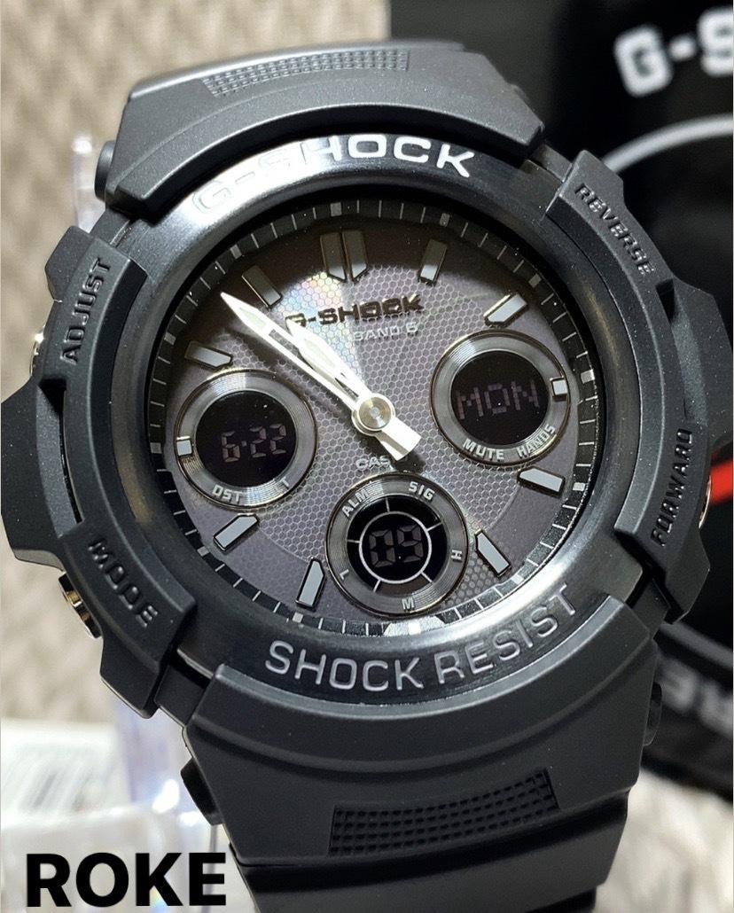 新品 CASIO カシオ 正規品 G-SHOCK Gショック ジーショック 電波ソーラー腕時計 アナデジ 防水 ブラック 20気圧防水 多機能腕時計 メンズ_画像2