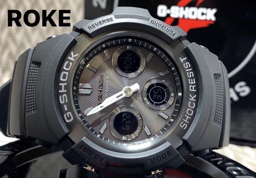 新品 CASIO カシオ 正規品 G-SHOCK Gショック ジーショック 電波ソーラー腕時計 アナデジ 防水 ブラック 20気圧防水 多機能腕時計 メンズ_画像1