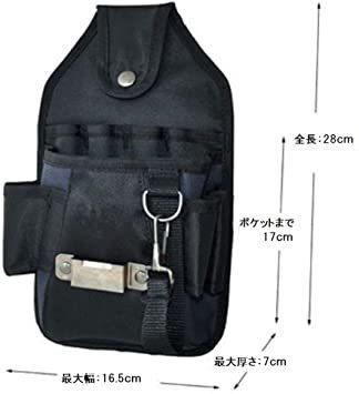 新品カーペンタータイプ 工具用ウエストバッグ 大工 電工用 作業効率の良い機能設計 工具差し 工具袋 ポーチ腰袋 ベ1S7M_画像3