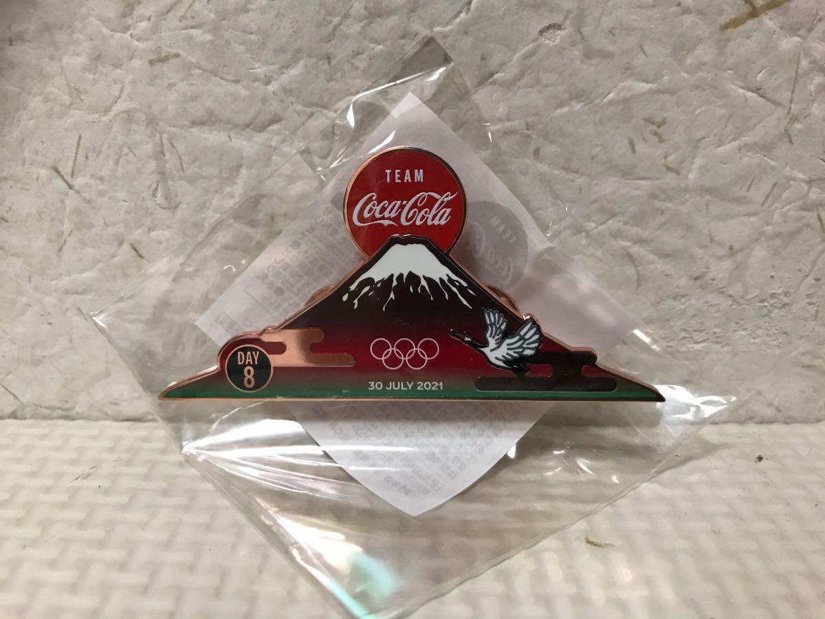 東京2020オリンピックピンバッジ チームコカコーラ デイピン DAY8 7/30 Coke ON コークオン ピンバッチ