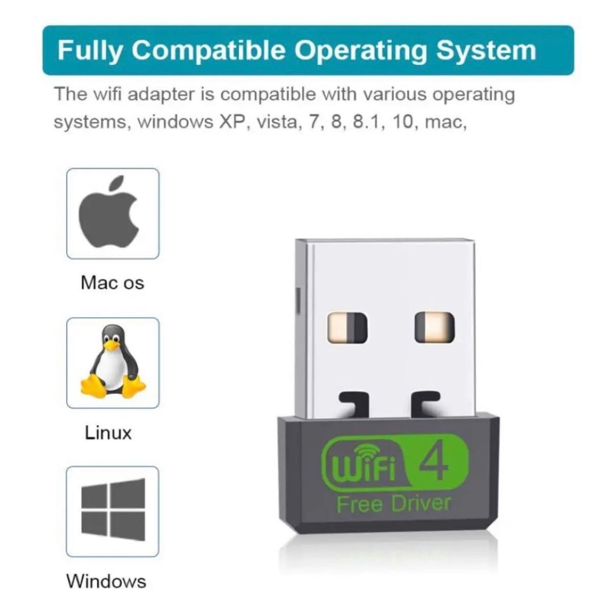 WiFi -1 無線LAN 子機 ラップトップデスクトップ用のUSBWiFi