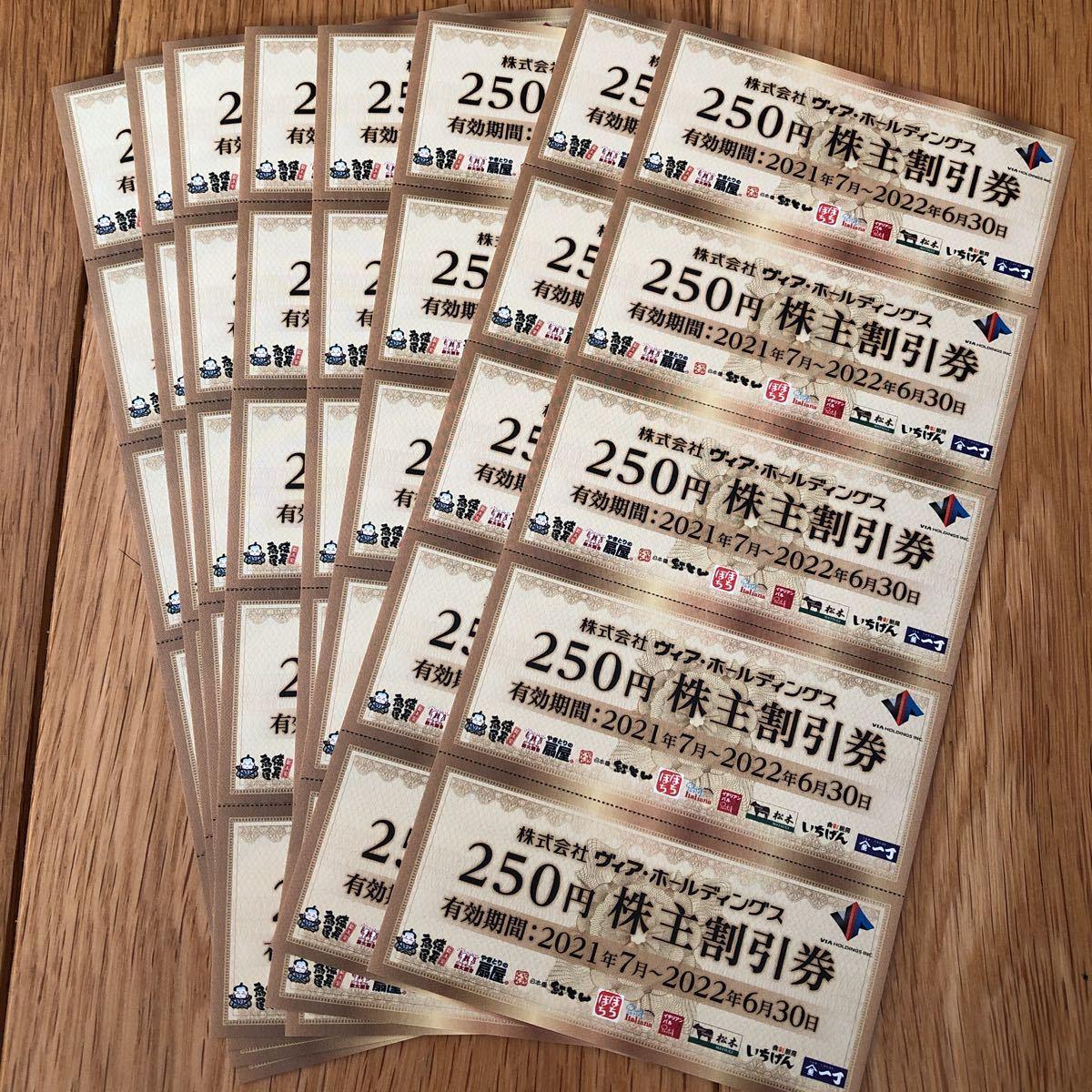 ヴィアホールディングス株主優待券10,000円分(送料込)_画像1