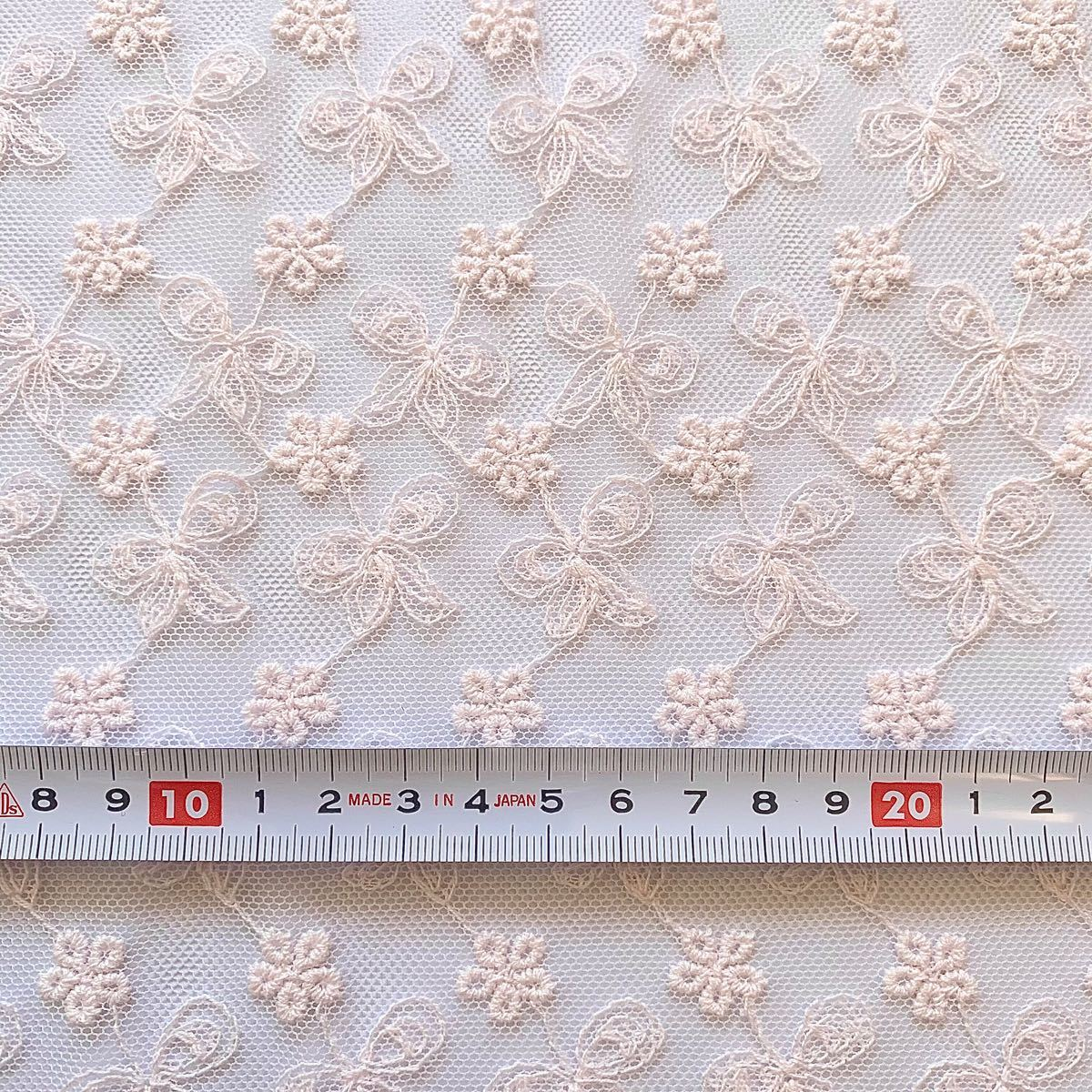 チュールレース コットン 綿 刺繍生地 はぎれセット 花柄 リボン 布 ハギレ