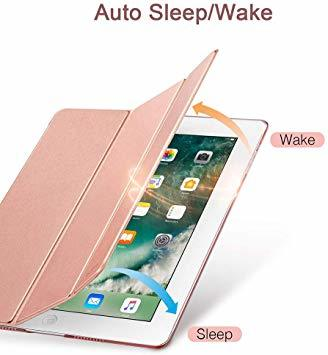 ローズゴール ESR iPad Mini 5 2019 ケース 軽量 薄型 PU レザー スマート カバー 耐衝撃 傷防止 クリ_画像2