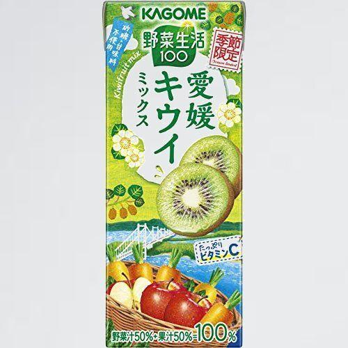 新品 未使用 野菜生活100季節限定 カゴメ R-WW 愛媛キウイミックス195ml ×24本_画像1