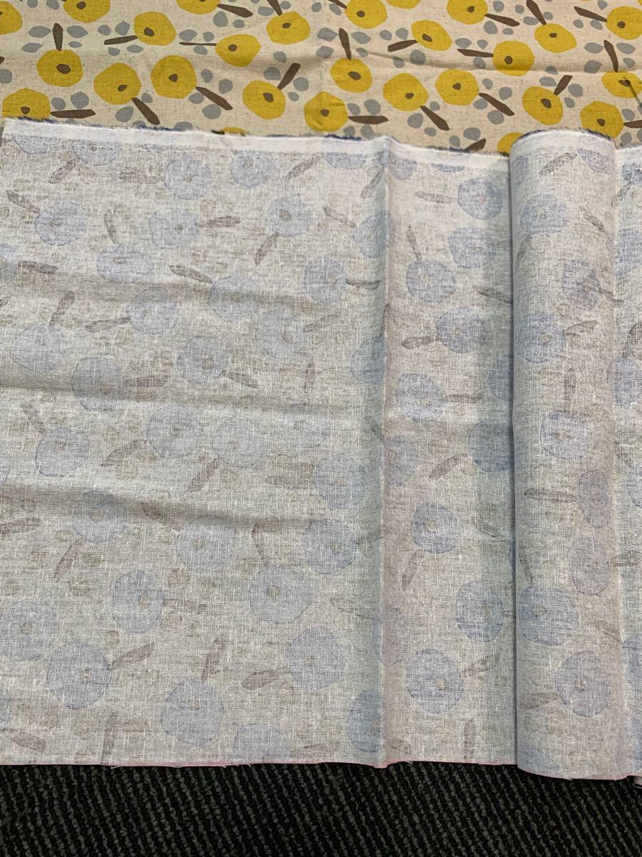 生地 布 ハギレ 2色セット 日本製 未使用 ハンドメイド 手作り用 はぎれ