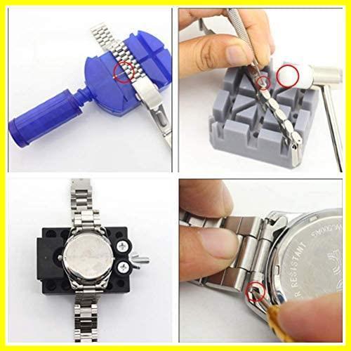 1C 新品 腕時計修理工具セット 新品sibling 電池&ベルト交換 時計修理工具 バンド調整 147点 在庫限り 未使用 時計 新品 工具 1T_画像6