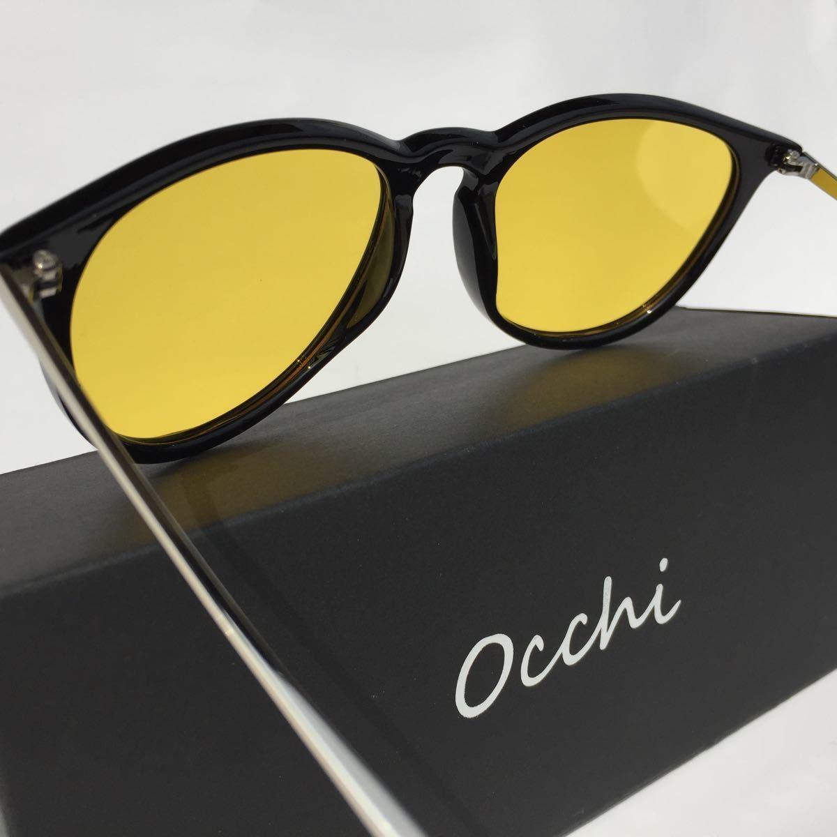 新品 OCCHI 偏光サングラス レンズUV400 イエローレンズ