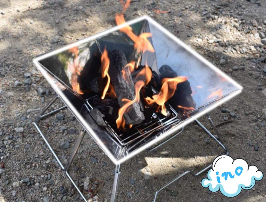 コンロ バーベキューコンロ 焚き火台 アウトドア キャンプ ktna0002