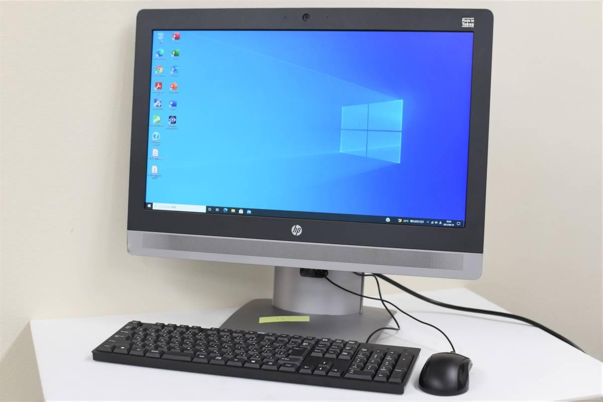 高速起動 Core i5-6500 3.2/3.6GHz 大型液晶PC HP ProOne 600 G2 メモリ8GB SSD256GB HDD1TB DVD-RW Wi-Fi Windows10 Office2019_ProOne 600 G2 本体とキーボード&マウス