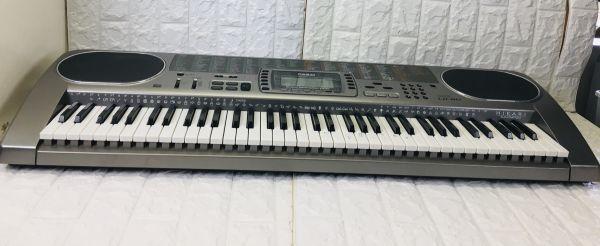 CASIO カシオ 電子キーボード 73鍵盤 光ナビゲーション シルバー 電子ピアノ LK-80 電池での動作確認済 I-21090415_画像5
