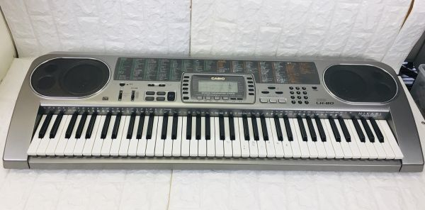 CASIO カシオ 電子キーボード 73鍵盤 光ナビゲーション シルバー 電子ピアノ LK-80 電池での動作確認済 I-21090415_画像1