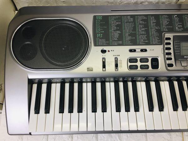 CASIO カシオ 電子キーボード 73鍵盤 光ナビゲーション シルバー 電子ピアノ LK-80 電池での動作確認済 I-21090415_画像3