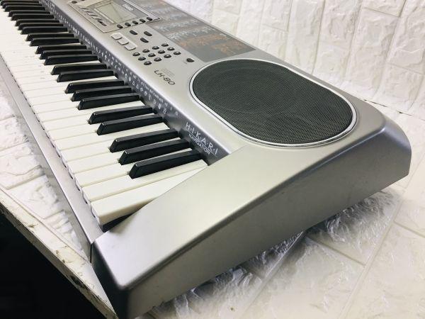 CASIO カシオ 電子キーボード 73鍵盤 光ナビゲーション シルバー 電子ピアノ LK-80 電池での動作確認済 I-21090415_画像8