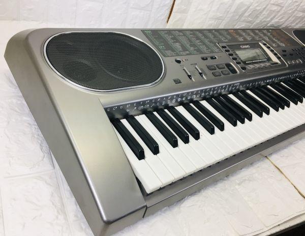 CASIO カシオ 電子キーボード 73鍵盤 光ナビゲーション シルバー 電子ピアノ LK-80 電池での動作確認済 I-21090415_画像7
