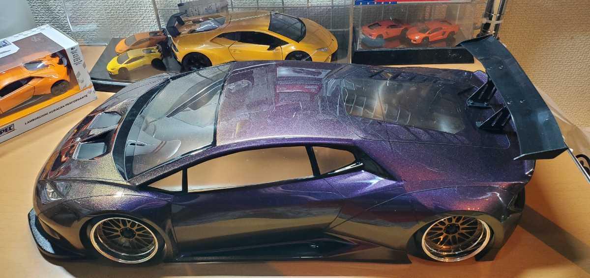 3レーシング 1/10 LGBボディキット(ランボルギーニ ウラカンLB仕様?)マジョーラカラー塗装済み 激レア品 ハイパーカー ドリフト _画像3