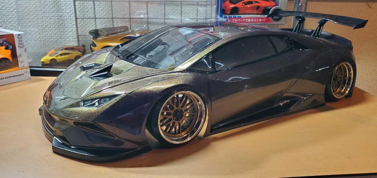 3レーシング 1/10 LGBボディキット(ランボルギーニ ウラカンLB仕様?)マジョーラカラー塗装済み 激レア品 ハイパーカー ドリフト _画像1