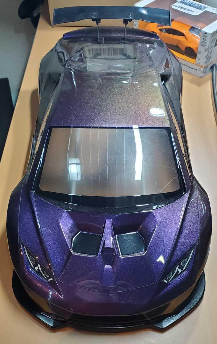 3レーシング 1/10 LGBボディキット(ランボルギーニ ウラカンLB仕様?)マジョーラカラー塗装済み 激レア品 ハイパーカー ドリフト _画像8