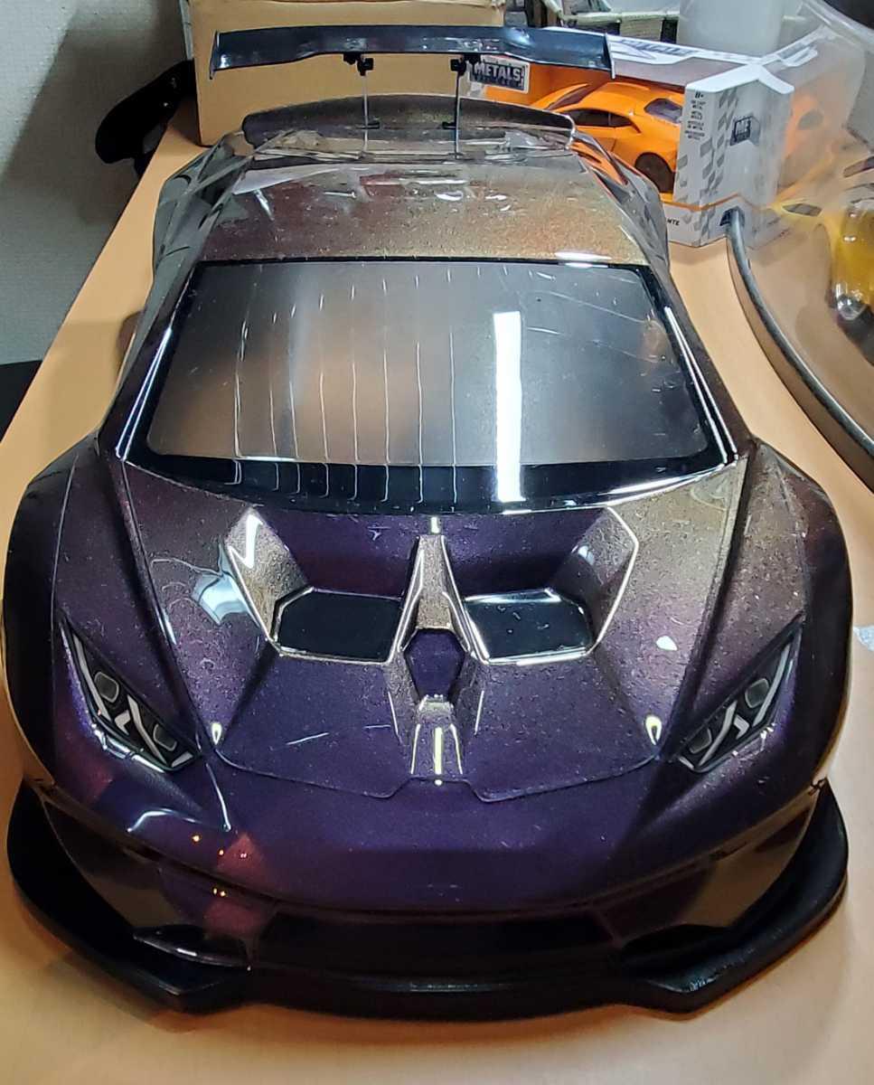 3レーシング 1/10 LGBボディキット(ランボルギーニ ウラカンLB仕様?)マジョーラカラー塗装済み 激レア品 ハイパーカー ドリフト _画像9